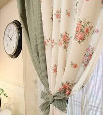 rideau en fenêtre grande fleur tissu de coton tissus pour