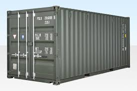 100 Cargo Container Prices 20ft Shipping One Trip Dark Green RAL 6007