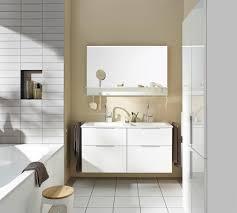 eqio doppelwaschtisch anlage in weiß bad ablage b