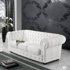 sofa 3 sitzer textilsofa lederlook braun weiß schwarz buche massiv