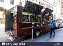 100 Vendor Trucks San Francisco CA USA Man Walking By Street Food