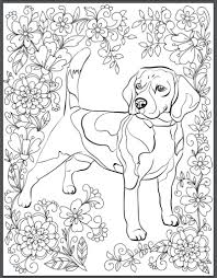 Free Background Coloring Dog Pages For Adults About De Stress With Dogs Downloadable