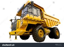 100 Big Yellow Truck Mining On White Stock Photo Edit Now 493793311