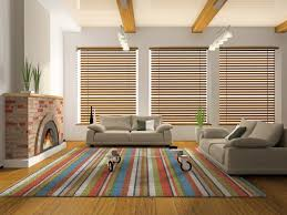 Modern Window Curtains For Living Room by Wood Blinds 3 Dark Wood Designs For Your Living Room Express
