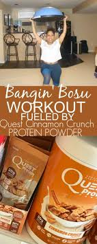 Bosu Workout Fueld By Quest Cinnamon Crunch Protein Powder