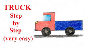 100 How To Draw A Truck Step By Step To Draw A Step By Step Very Easy YouTube