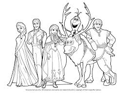 Full Image For Free Printable Frozen Coloring Pages Pdf Kristoff Disney