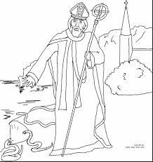 Great Saint Patrick Catholic Coloring Pages With St And Day
