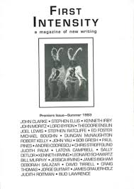 First Intensity A Magazine Of New Writing Vol 1 No Summer 1993