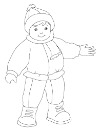 Coloring Cloth Winter Clothes Pages Preschool Sheets For