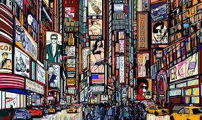 Nokia Mural 6750 Ebay by New York Times Square Wall Mural Wall Murals You U0027ll Love