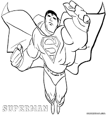 Cool Superman Coloring For Boys