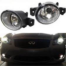 oem fog lights with h11 halogen bulbs for nissan infiniti