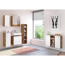 badezimmer sideboard louny 03 in wotaneiche nb mit matt weiß b h t ca 90 66 20 cm