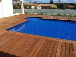 margelle piscine en bois margelle bois piscine achat sangle idmaison