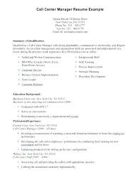 Resume For Call Center Agent Sample Without