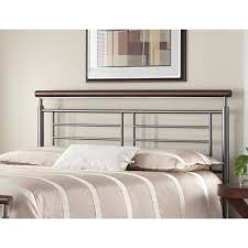 Leggett And Platt King Headboards by Fontane Metal Headboard With Geometric Panel And Rounded Cherry
