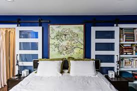 royal blue bedroom bedroom traditional with small chandelier blue