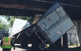 100 Truck Stuck Under Bridge Driver Gets Rig Stuck Under Bridge On First Day On The Job The
