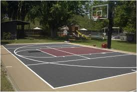 Backyard Design: Good Backyard Basketball Court Cost. | Carolbaldwin Multisport Backyard Court System Synlawn Photo Gallery Basketball Surfaces Las Vegas Nv Bench At Base Of Court Outside Transformation In The Name Sketball How To Make A Diy Triyaecom Asphalt In Various Design Home Southern California Dimeions Design And Ideas House Bar And Grill College Park Half With Hill