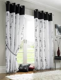 luxus schwarz weiß gardinen vorhänge wohnzimmer schöne