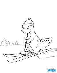 Homme Sauter Sur Ski Coloriage Image Vectorielle Izakowski © 48878971