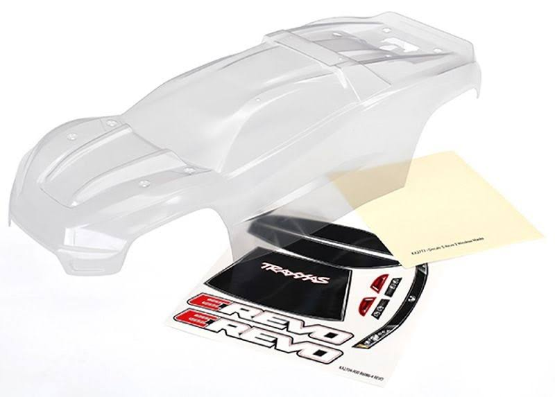 Traxxas E-Revo Clear Body & Decal Sheet TRA8611