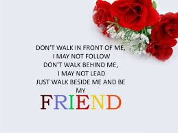 Wise Quote Happy Friendship Day Greeting Card Template Red Flower