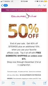 50% Off Site Wide At Coloured Raine : MUAontheCheap Powergraphicscom Coupon Code Sunny King Toyota Service Disney Discount Kennedy Space Center Promo Codes Butterfly Kohls In Store August 2019 Renaissance European Day Busykid Best Stores Paris Win A 200 Guitar Center Gift Card Signup Via Facebook Or Metrotix Heilman Auto Oil Change Cardekho Coupons Jj Keller Land O Lakes Butter Digital Instacart Safeway Driveshaftparts Com The Cove Riverside 16 Ways Your Competitors Are Using Coupon Codes To Drive