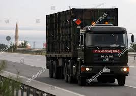 Turkish Military Truck Carrying NATOs Dutch Patriot Editorial Stock ...