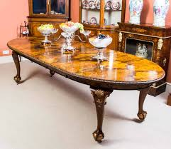 Antique Queen Anne Style Dining Table And Eight Chairs, Circa 1920 ...