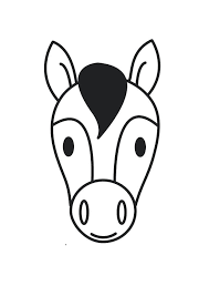 Horse Head Coloring Page Download Large Image Realistic Pages