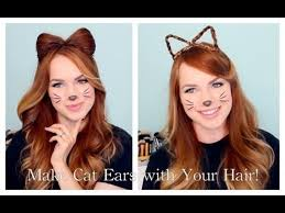 how to make cat ears 2 ways to make cat ears with your hair 2173240