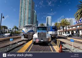 100 Truck Stop San Diego Pacific Surfliner Next To A Truck Which Is Refueling A Diesel