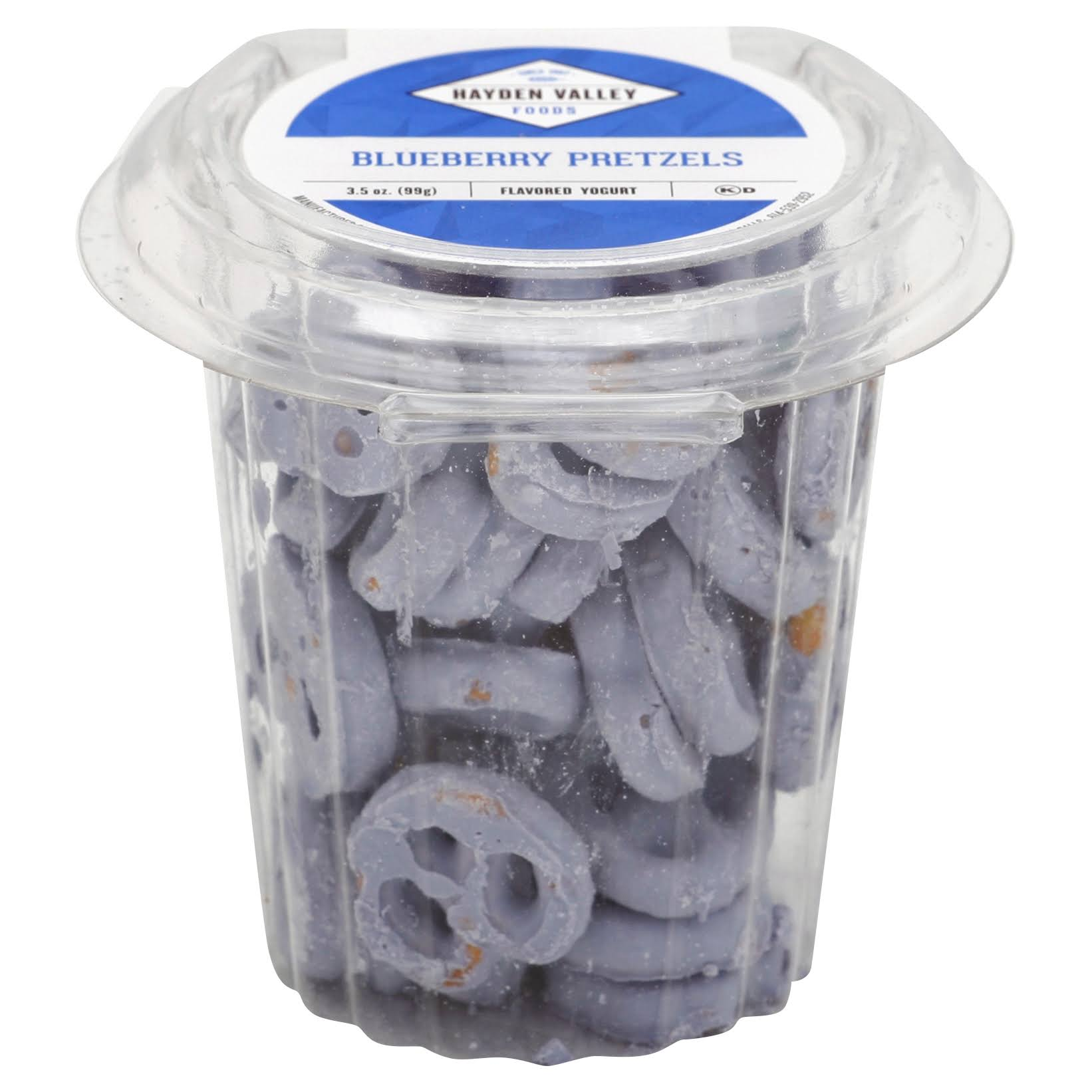 Hayden Valley Pretzels, Blueberry Flavored Yogurt - 3.5 oz