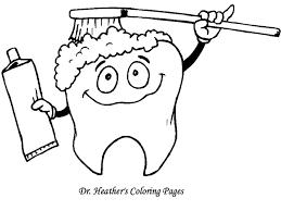 Dental Teeth Dentist Coloring Pages Printable