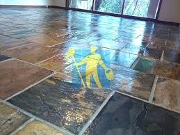 Slate Floors Cost Sealed Tiles Home Decor Ideas Living Room Budget Brushed Black Malaysia