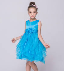 european style kid party dress flower dresses for 6 years old