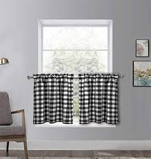 dreamskull kurzstores gardinen vorhang landhaus küche kurz fenster blickdicht modern scheibengardinen bistrogardine kurzgardine kurzvorhang kariert