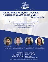 Congressional Briefing Flying While Arab Muslim Sikh Italian
