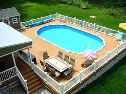 Swimming Pool Decking Ideas Large Size Of Garden Above Ground Deck
