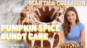 Pumpkin Spice Bundt Cake Using Cake Mix by Pumpkin Spice Bundt Cake I Martha Collison Youtube