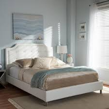 King Platform Bed With Upholstered Headboard by White Bed Headboard Interiors Design