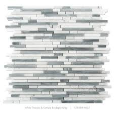 white carrara mix bardiglio gray linear marble mosaic wall tiles