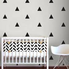 Triangle Wall Sticker Home Decor Baby Nursery Wall Decals for Kids Room Modern Triangle Children Stickers