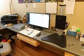 Kangaroo Standing Desk Dual Monitor ergo desktop kangaroo pro standing desk review u2013 the gadgeteer