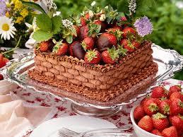 Chocolate Strawberry Basket Cake