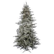 Pre Lit White Flocked Christmas Tree by Shop Northlight 6 Ft 6 In 809 Count Pre Lit Wistler Fir Flocked