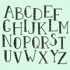 Vector Doodle Alphabet Simple Hand Drawn Letters Thin Serif Marker Font Decorative