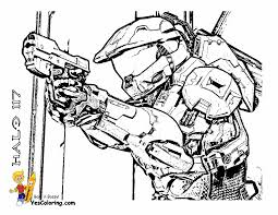 Master Chief Coloring Page